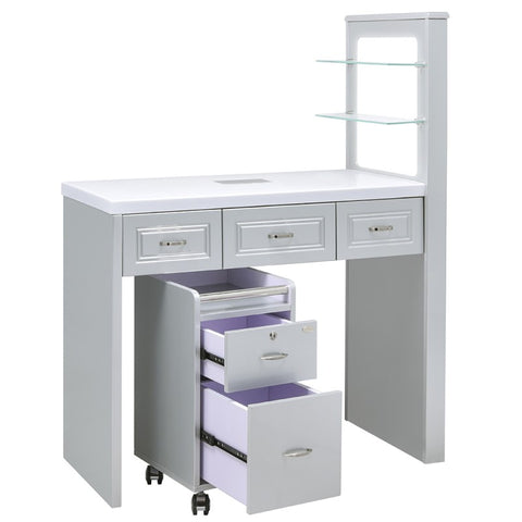Dream In Reality DIR Quar Manicure Nail Table Manicure Table - ChairsThatGive