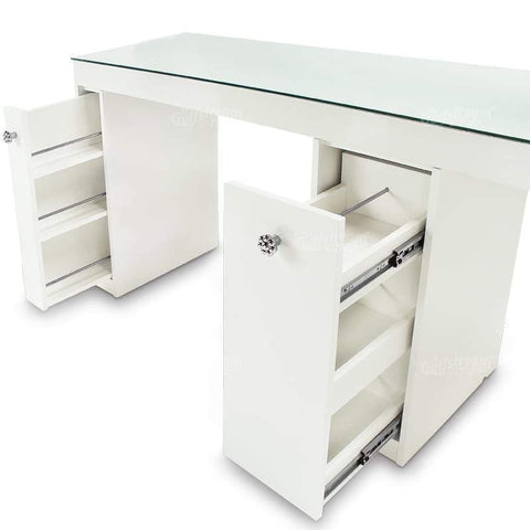 Gulfstream Gulfstream Vienna Double Manicure Nail Table Manicure Nail Table - ChairsThatGive