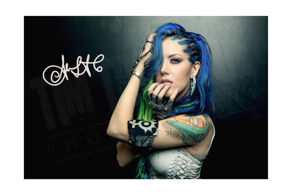Alissa White-Gluz - My Shadow And I print