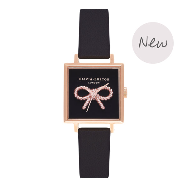 OLIVIA BURTON-Vintage Bow Black & Rose Gold-Watch-OB16VB03-THE UNIT STORE