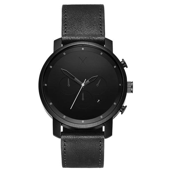 Mens Chrono Black Leather 45 mm__MVMT_Watch_THE UNIT STORE