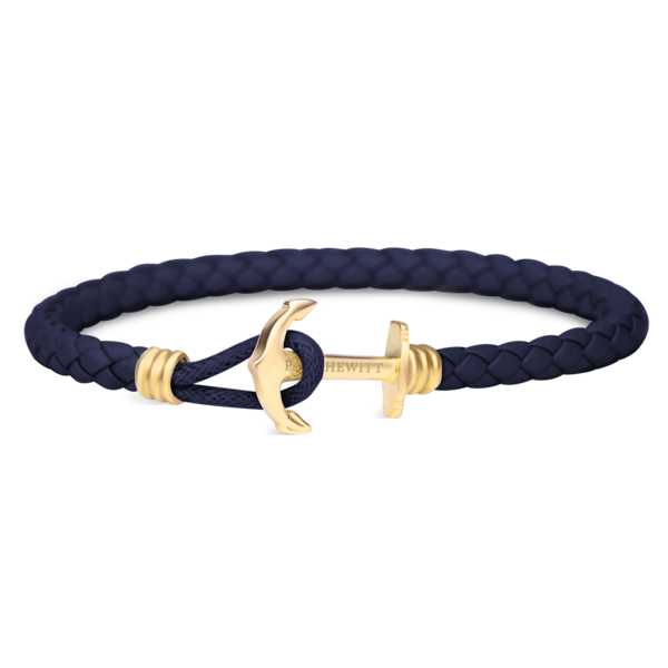 Anchor Bracelet PHREP Lite IP Gold Navy Blue__Paul Hewitt_Jewellery_THE UNIT STORE