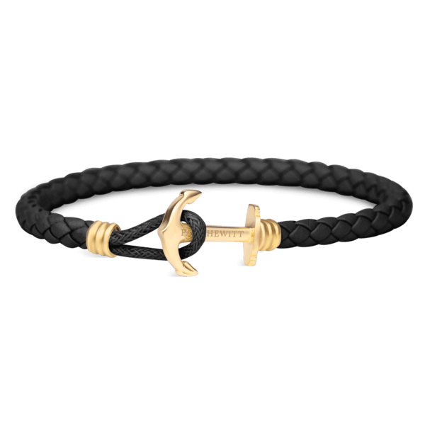Anchor Bracelet PHREP Lite IP Gold Black__Paul Hewitt_Jewellery_THE UNIT STORE
