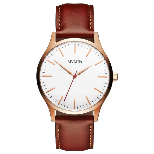 Mens 40 Series Rose Gold Natural Tan 40 mm__MVMT_Watch_THE UNIT STORE