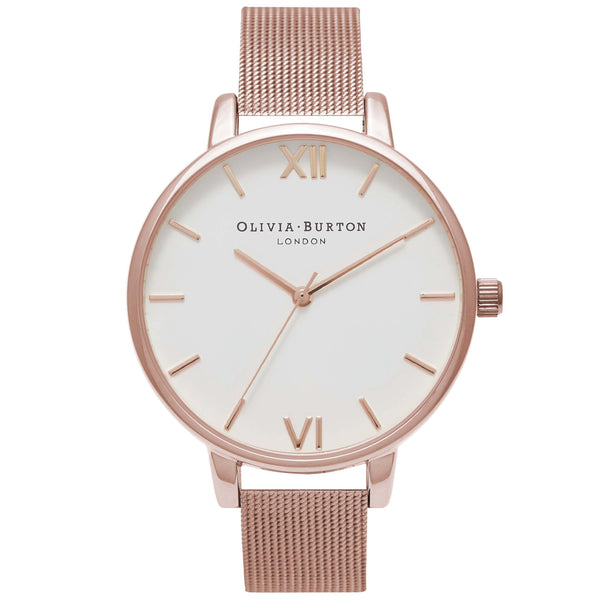 White Dial Mesh Rose Gold Mesh__OLIVIA BURTON_Watch_THE UNIT STORE