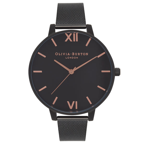 After Dark Black Mesh & Rose Gold Details__OLIVIA BURTON_Watch_THE UNIT STORE