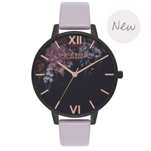 OLIVIA BURTON-After Dark Grey & Lilac Ip Black-Watch-OB16AD15-THE UNIT STORE