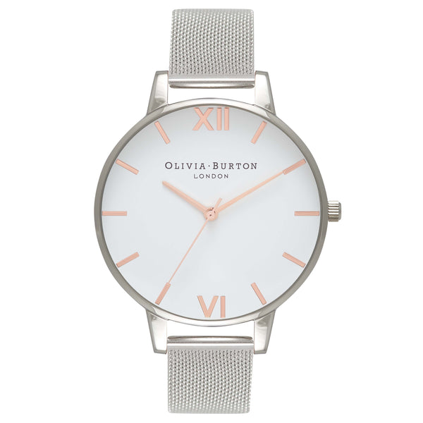 White Dial Mesh Rose Gold & Silver Mesh__OLIVIA BURTON_Watch_THE UNIT STORE