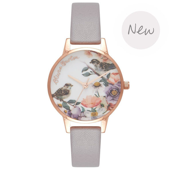 Flower Show Grey Lilac & Rose Gold__OLIVIA BURTON_Watch_THE UNIT STORE