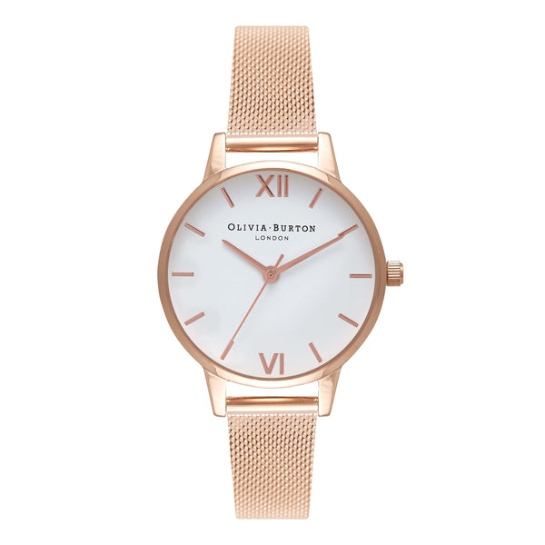 White Dial Mesh Midi Rose Gold Mesh__OLIVIA BURTON_Watch_THE UNIT STORE