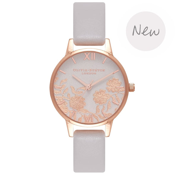 OLIVIA BURTON-Lace Detail Blush Small Dial & Rose Gold-Watch-OB16MV69-THE UNIT STORE
