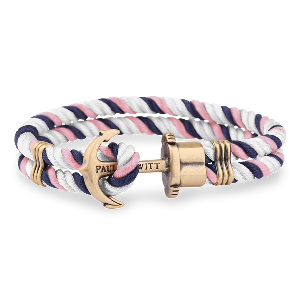 Anchor PHREP Brass Navy Blue-Pink-White__Paul Hewitt_Jewellery_THE UNIT STORE