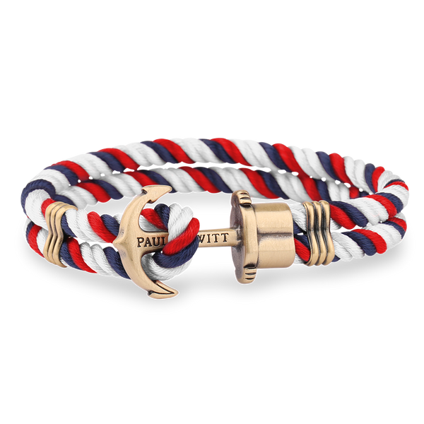 Anchor PHREP Brass Navy Blue-Red-White__Paul Hewitt_Jewellery_THE UNIT STORE