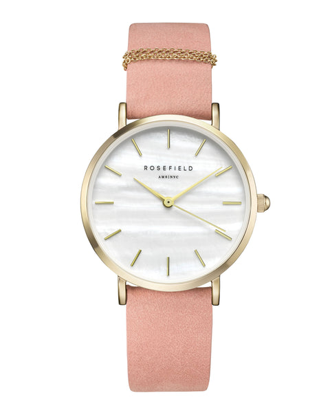 Rosefield-The West Village Bubblegum Pink Gold-Watch-RF-WBPG-W72-THE UNIT STORE