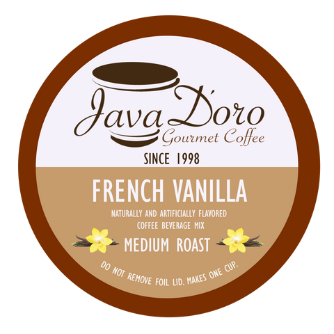 French Vanilla Flavored Coffee Pods - 18 Count