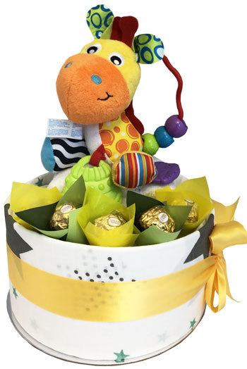 Nappy Cake Bubbalicious Korimco Activity Giraffe