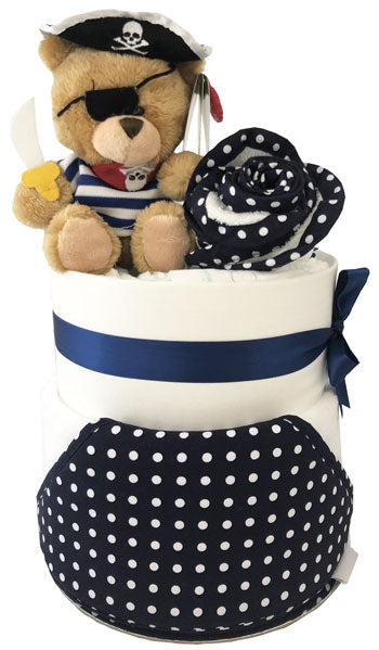 Nappy Cake Bath Time Deluxe Baby Pirate Ahoy Boy Gift