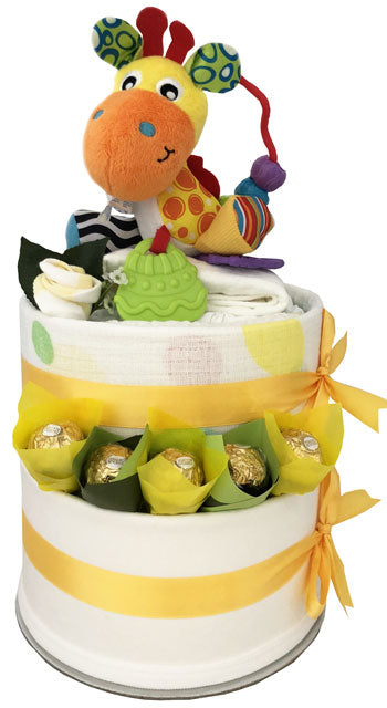 Nappy Cakes Play Time Korimco Activity Hand Toy Giraffe Unisex