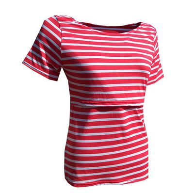Breastfeeding Striped Tops