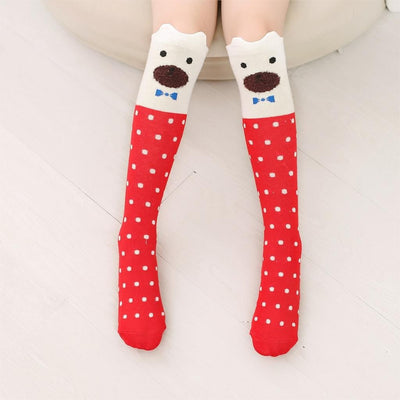 Cute Animal Cartoon Cotton Knee High Sock For Girl