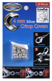4mm Silver Crimp Covers