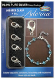 Adorna Pure Silver Plated Lobster Clasps For jewelry Making, 4 Pieces