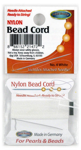 Nylon Bead Cord #4 White