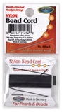 Nylon Bead Cord #4 Black