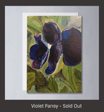 Violet Pansy - Sylvia Sleigh Greeting Card