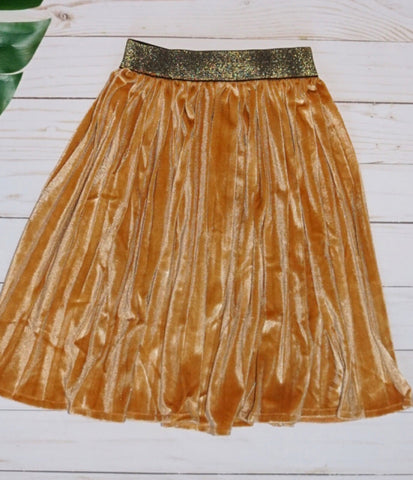 Baby Pleated Skirt- GOLD - WiddleToes