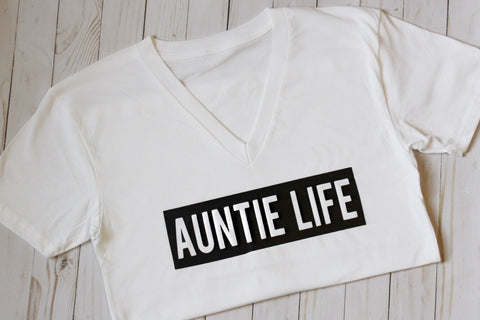 Auntie Life T-Shirt (White) - WiddleToes