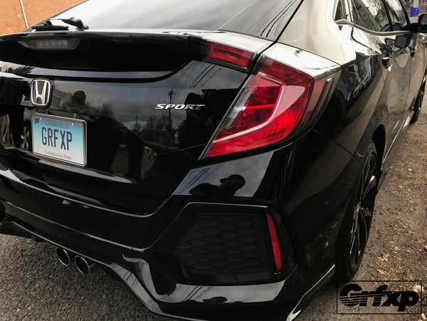 Taillight Overlays for 10thGen Honda Civic Hatchback (2017+)
