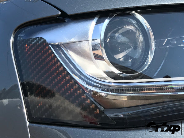 Carbon Fiber Headlight Reflector Overlays for Audi B8.5 S4/A4 S-Line (2013 – 2016)