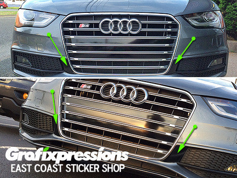Fog Light Extender Vinyl Overlays for B8.5 Audi S4/S-Line (2013 – 2016)