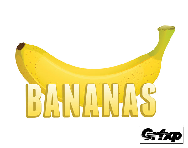 Bananas Printed Sticker