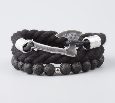 Bracelet Viking Leif Black vue de face