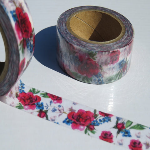 vibrant floral and flowers washi masking paper tape