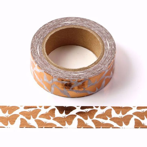 foil butterfly washi tape