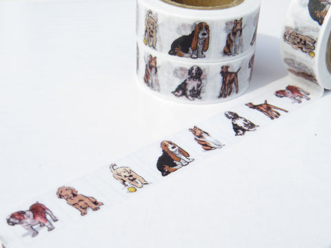 dog washi masking paper tape