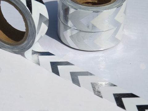 silver foil arrows washi tape