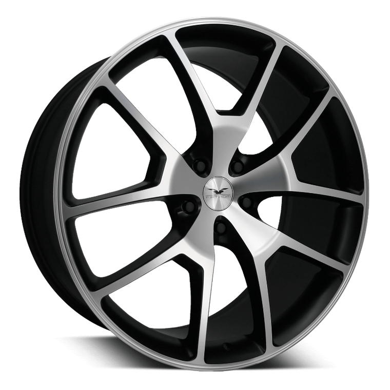 Fathom Designs Passenger Car Wheels 20x8.0 | 5x114.3 | et35mm | 5.3 in | 73.1mm Fathom Designs FDRA Wheels | Satin Black Machined Face