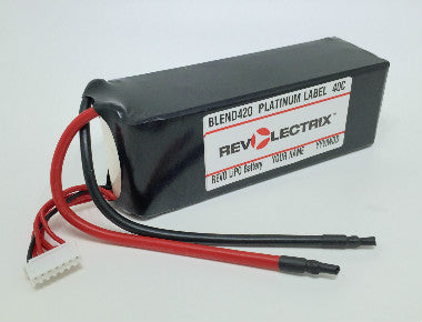 Revolectrix 2200mAh 2S LiPO - 40C Platinum Label - GoPACKS