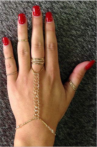 Hand Jewelry - Golden Shadows (light champagne)