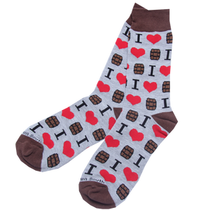 I Love Bourbon Socks - Barrel Down South