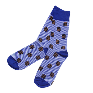 Blue Bourbon Stripe Socks - Barrel Down South