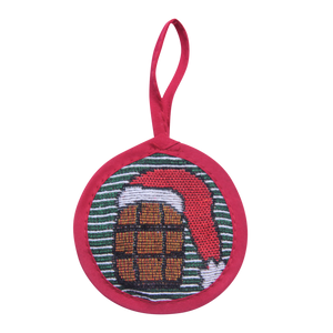 Green Stripe Bourbon Ornament - Barrel Down South