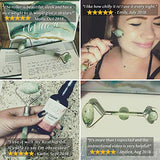 Jade Roller With Bonus Lymphatic Massage Video and Ebook