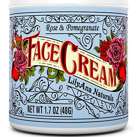 Rose & Pomegranate Natural Anti Aging Face Cream