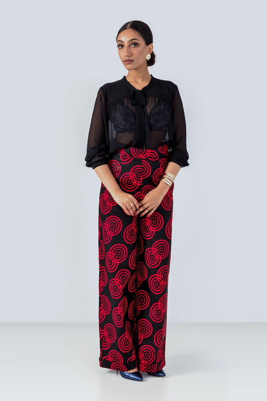 Sika'a Tailored Wide Leg African Print Trousers