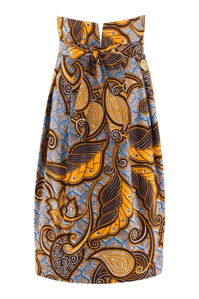 Sika'a KoKo Tie Waist Floral African Pencil Skirt